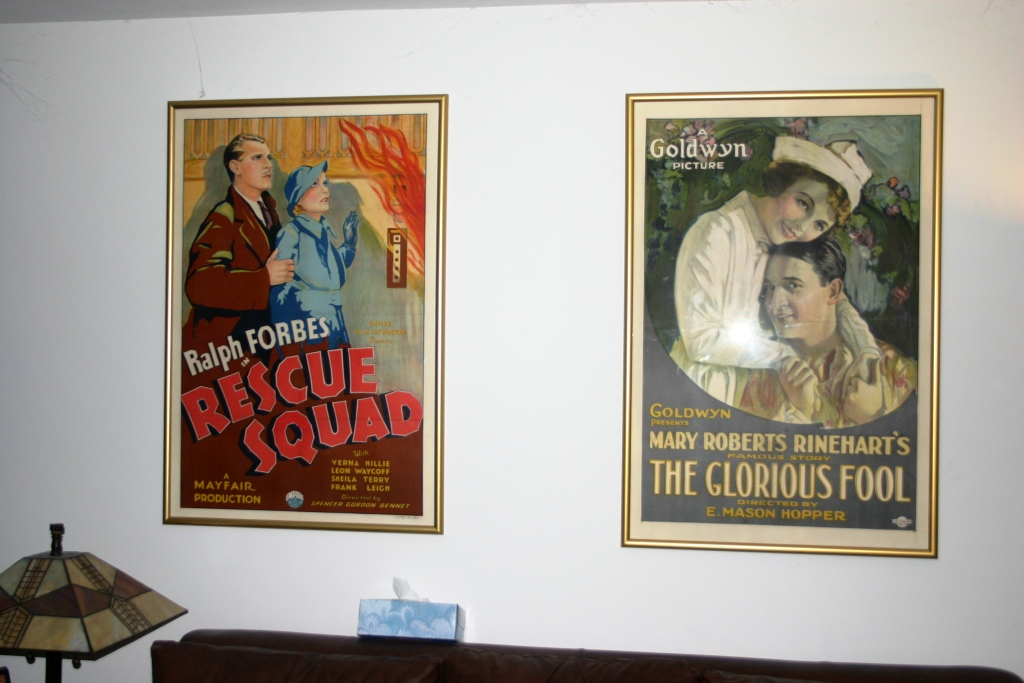 here are a couple of hollywood poster frame items i have had hanging for 11 years now please forgive the spiderwebs this was at my old rental house before
